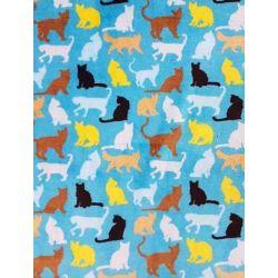 Madrass blå med katter