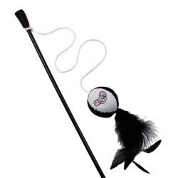 Cat Wand with Ball and Feather